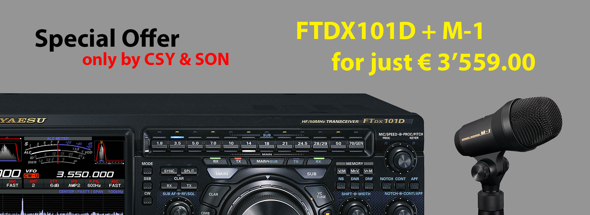 Special Pack FTDX101D + M-1